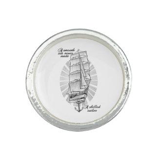 Schiffs-Seemann-Tätowierung Ring