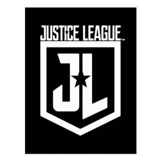 Schild der Gerechtigkeits-Liga-| JL Postkarte