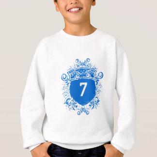 Schild des Blau-#7 Sweatshirt