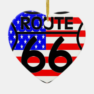 Schild-Sterne u. Streifen 2 des Flagge-Weg-66 Weihnachtsbaum Ornamente