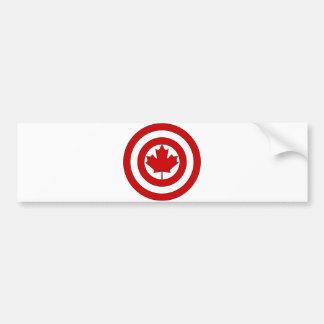 Schild-Symbol Kapitän-Kanada Autoaufkleber