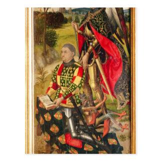 Schilderung des Spenders von Altarpiece, Michelde Postkarte