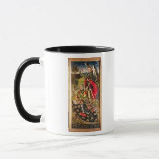 Schilderung des Spenders von Altarpiece, Michelde Tasse