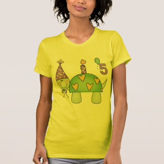 Schildkröte-5. Geburtstags-Geschenke T-Shirt