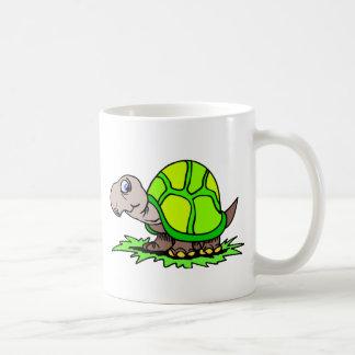 Schildkröte auf Gras Kaffeetasse