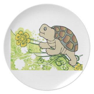 Schildkröte auf Reben Melaminteller