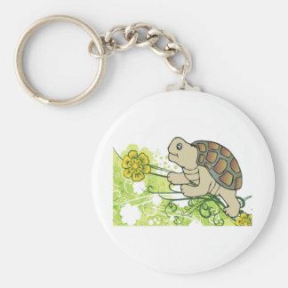 Schildkröte auf Reben Schlüsselanhänger