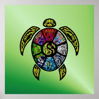 Schildkröte Ba-Gua Poster