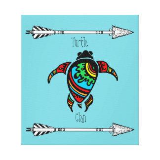 Schildkröte-Clan der Ureinwohner-Stämme Leinwanddruck