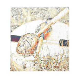 Schildkröte-Clan rattern und trommeln Notizblock
