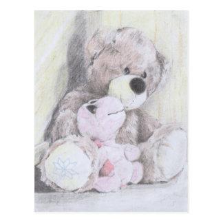 Schildkröte des besten Freunds des Teddybären Postkarte