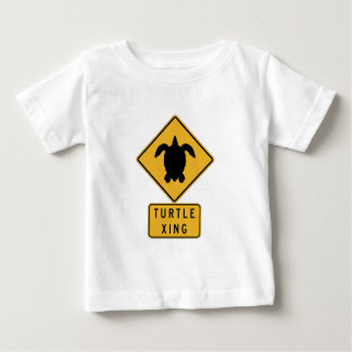 Schildkröte, die 2, Verkehrszeichen, Hawaii, USA Baby T-shirt