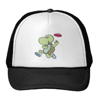 Schildkröte, die Frisbee spielt Netzkappen