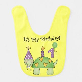 Schildkröte-erster Geburtstags-Schellfisch Lätzchen