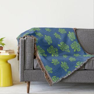 Schildkröte-Grün auf Blau Decke