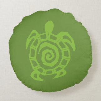 Schildkröte-Grün-Druck Rundes Kissen