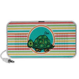 Schildkröte Helle Regenbogen-Streifen Mini Lautsprecher