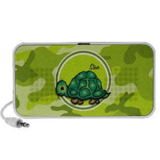 Schildkröte hellgrüne Camouflage Tarnung Notebook Speaker