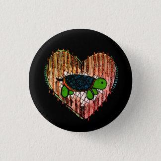 Schildkröte-Herz Runder Button 3,2 Cm