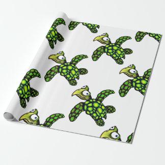 """Schildkröte """"kleinen Daves"""", Fisch mit Haltung Geschenkpapier"""