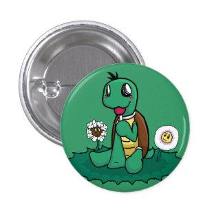 Schildkröte-Knopf Runder Button 2,5 Cm