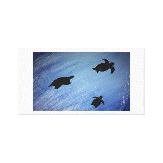 Schildkröte-Leinwand Leinwanddruck