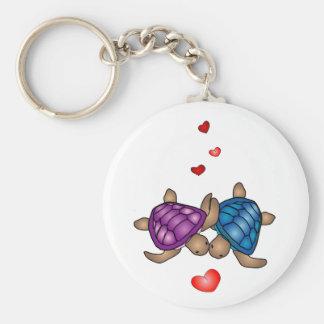 Schildkröte-Liebe Keychain Schlüsselband