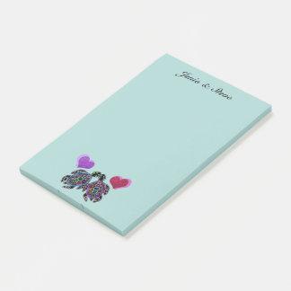 Schildkröte-Liebe Post-it Klebezettel