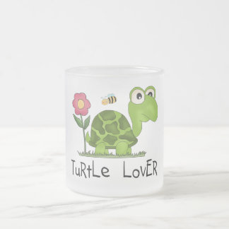 Schildkröte-Liebhaber-T-Shirts und Geschenke Matte Glastasse
