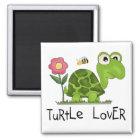 Schildkröte-Liebhaber-T-Shirts und Geschenke Quadratischer Magnet