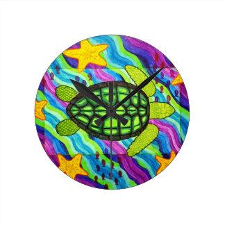 Schildkröte Runde Wanduhr
