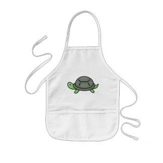 Schildkröte scherzt Schürze