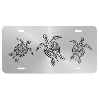 Schildkröte-Stammes- Silber US Nummernschild