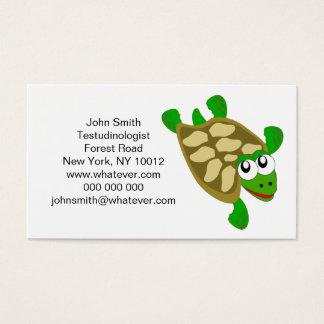 Schildkröte Testudinologist Visitenkarte