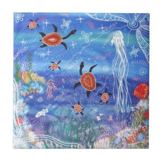 Schildkröte-Träumen Keramikfliese