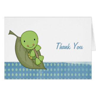 Schildkröte-Tupfen-Babyparty danken Ihnen Karte