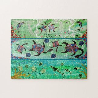 Schildkröte-u. Delphin-Puzzlespiel Puzzle