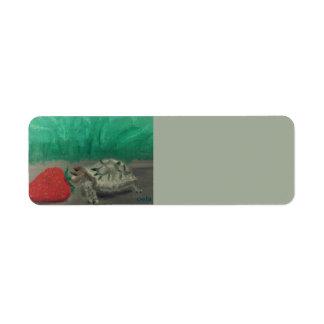 Schildkröte-u. Erdbeeradressen-Etiketten