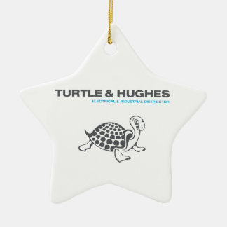 Schildkröte-u. Hughes-Grafik Keramik Ornament