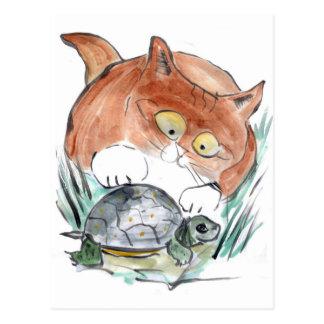 Schildkröte-Umbau - Kätzchen sagt, dass Sie es Postkarte