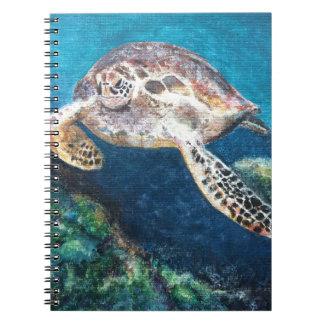 Schildkröte und ein Korallenriff Spiral Notizblock