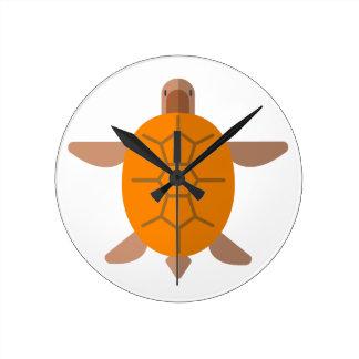 Schildkröte von der oben genannten ursprünglichen runde wanduhr