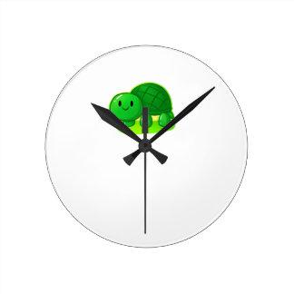 Schildkröte-Wachs Runde Wanduhr