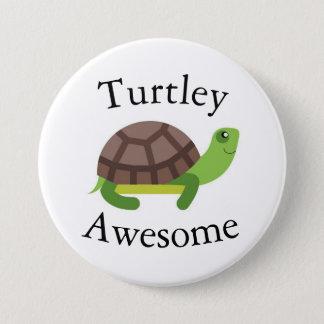 Schildkröte-Wortspiel-Abzeichen Runder Button 7,6 Cm