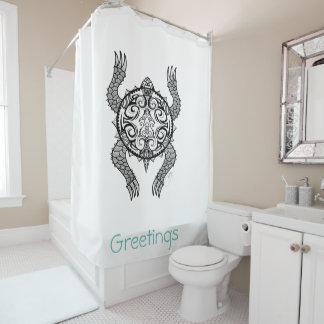 Schildkröte-Zeichnen Duschvorhang