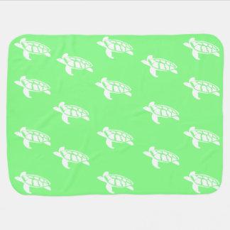 Schildkröten auf Meergrün Babydecke