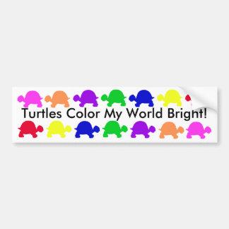 Schildkröten färben meine Welt hell! Autoaufkleber