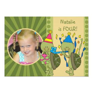 Schildkröten fertigten Kindergeburtstag besonders 12,7 X 17,8 Cm Einladungskarte
