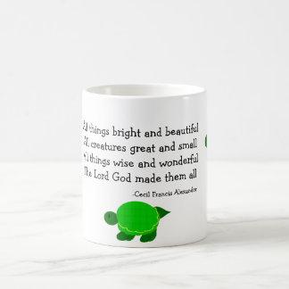 Schildkröten mit inspirierend Zitat Kaffeetasse