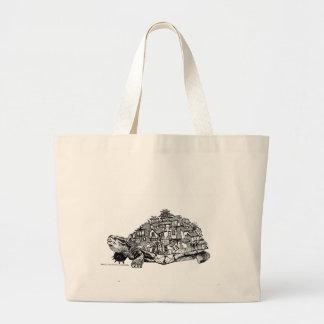 Schildkröten-Stadt Jumbo Stoffbeutel